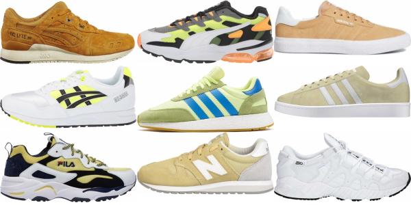 buy yellow suede sneakers for men and women