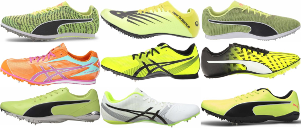 buy yellow track & field shoes for men and women