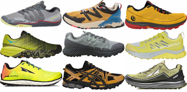 buy yellow trail running shoes for men and women