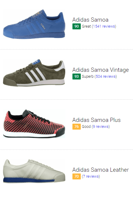 best adidas samoa sneakers