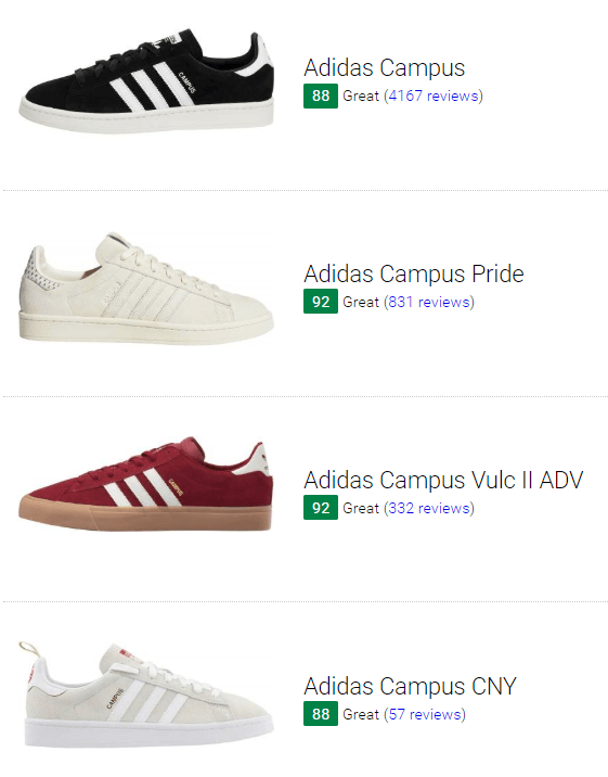 Save 38% on Adidas Campus Sneakers (8