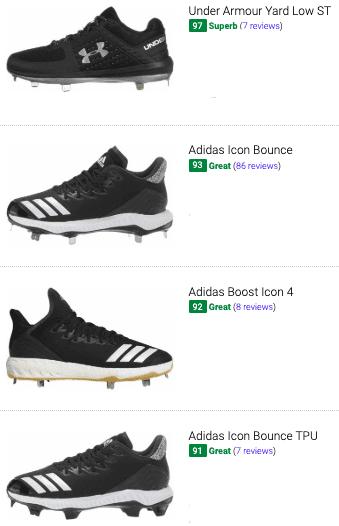 best black baseball shoes