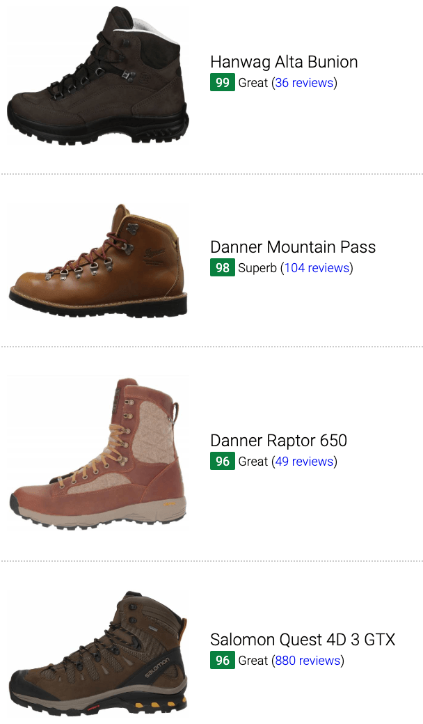 Best brown hiking boots