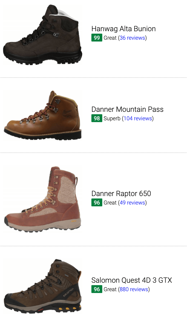 Best brown leather hiking boots