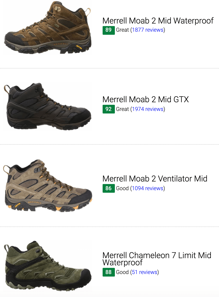 Best Merrell mid-cut hiking boots