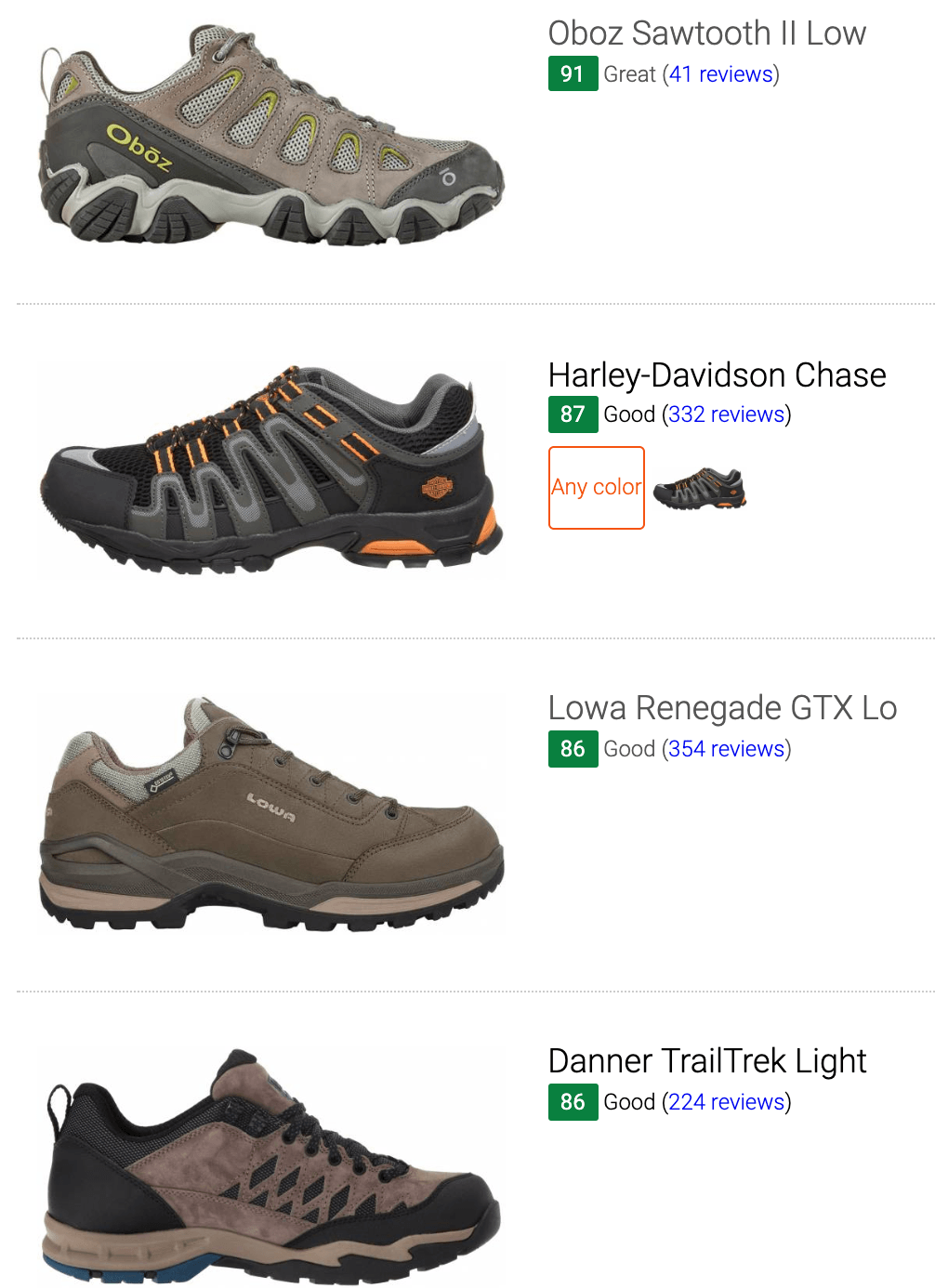 best narrow hiking shoes
