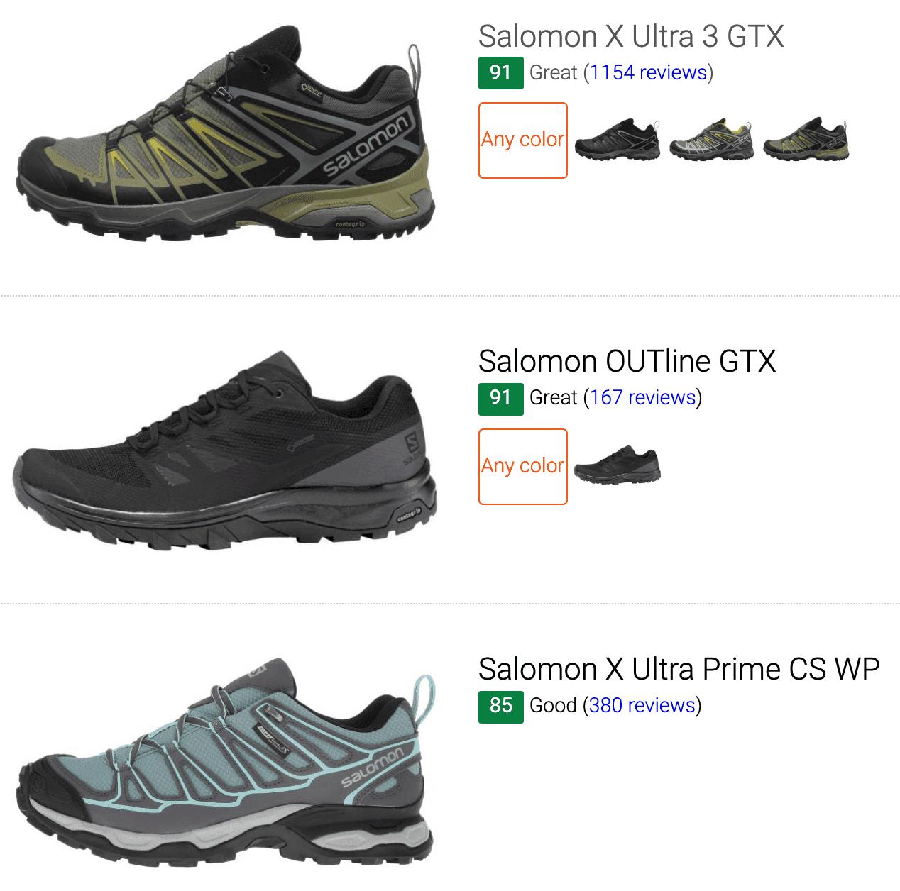 Best Salomon Gore-Tex hiking shoes