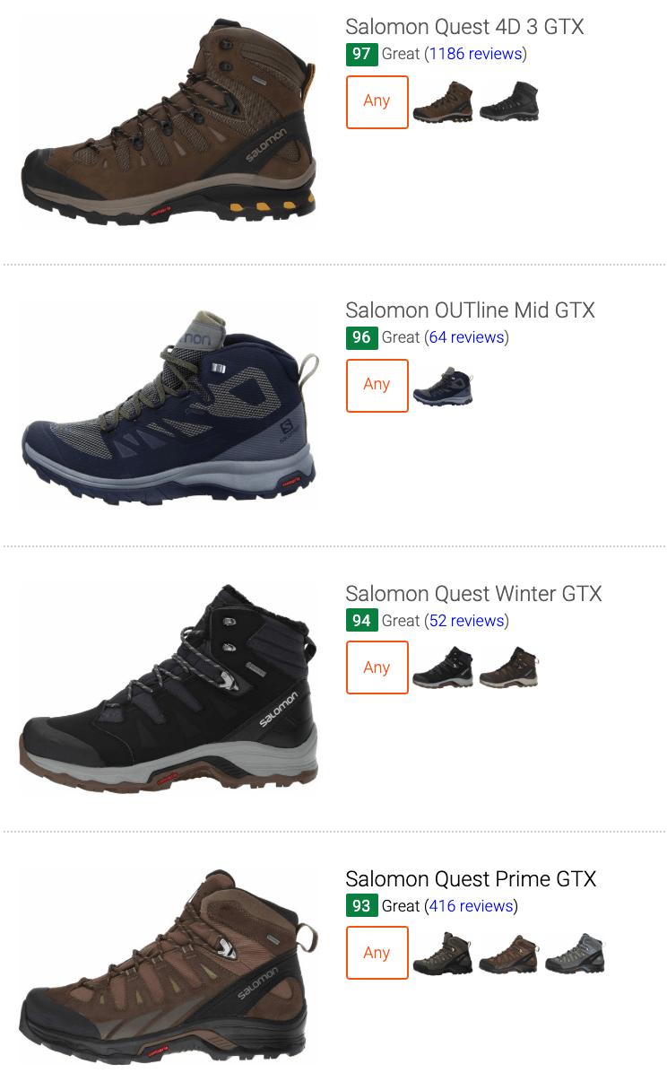 best Salomon waterproof hiking boots
