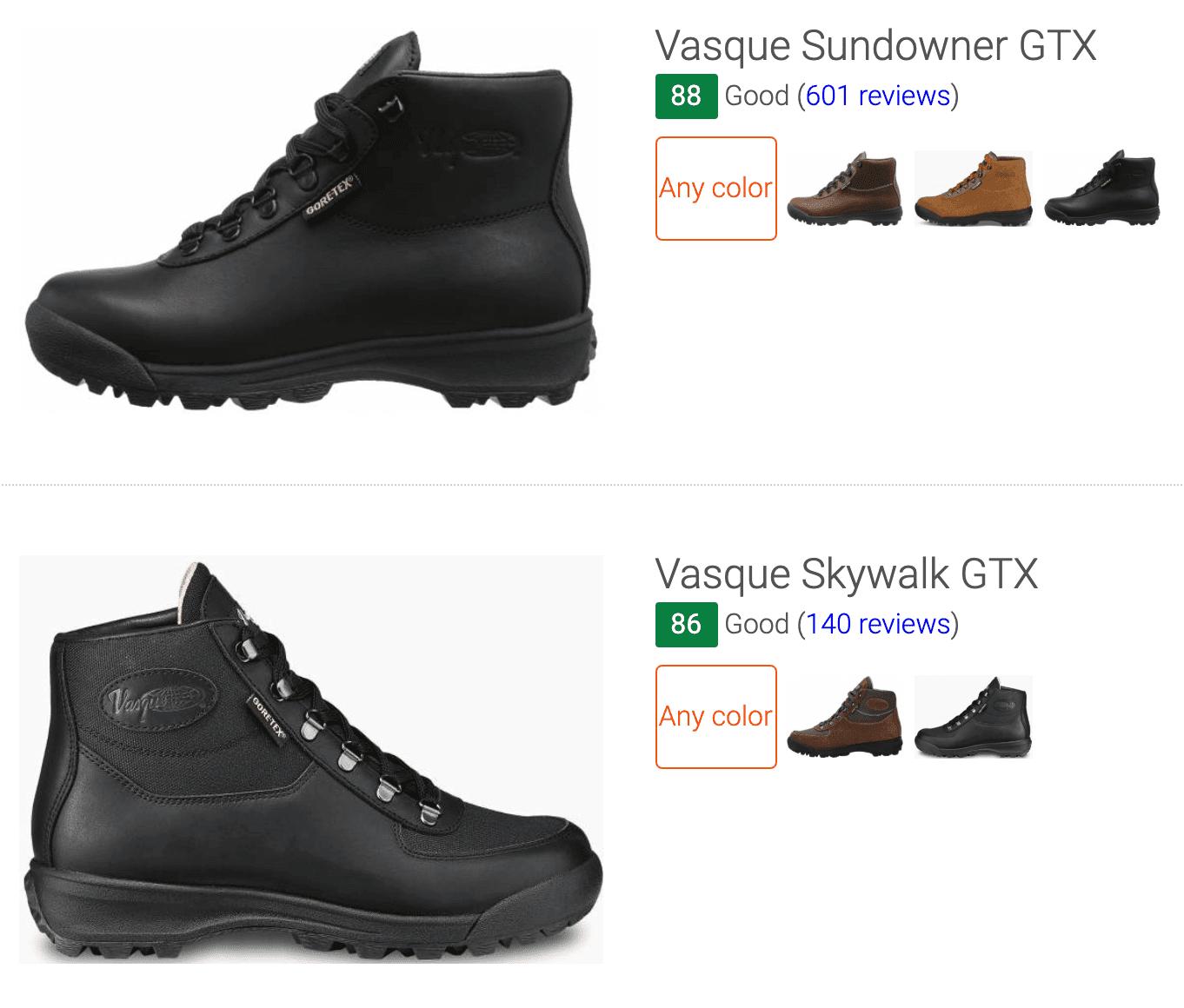 best vintage Vasque hiking boots
