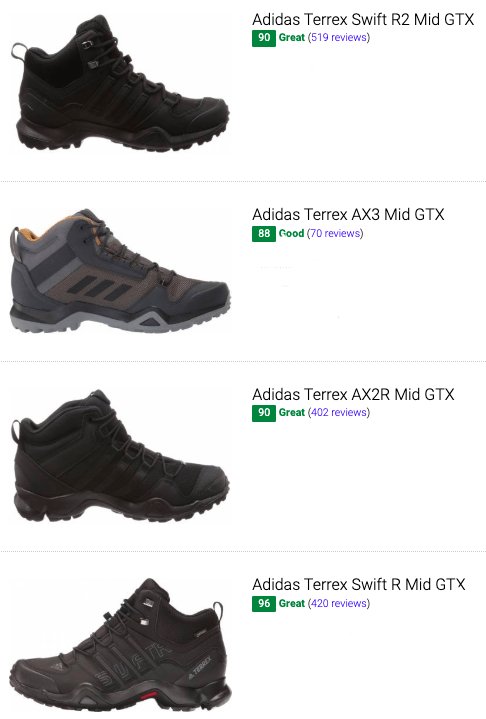 best adidas goretex hiking boots