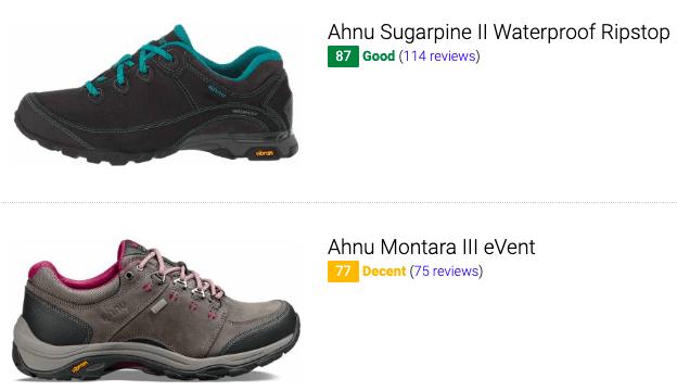 best ahnu waterproof hiking shoes