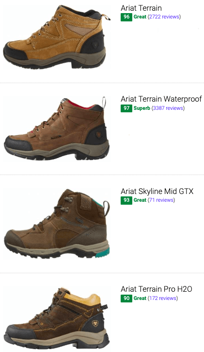 best ariat hiking boots