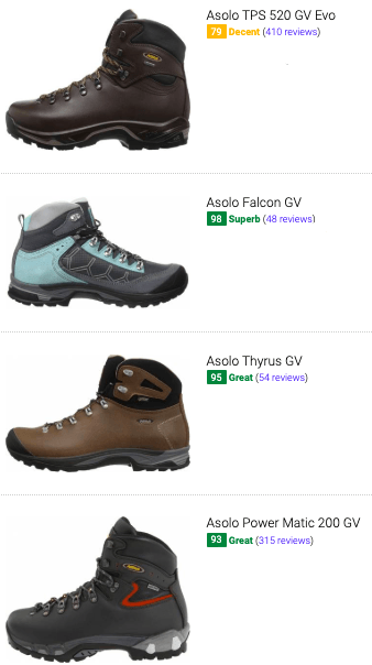 best asolo hiking boots