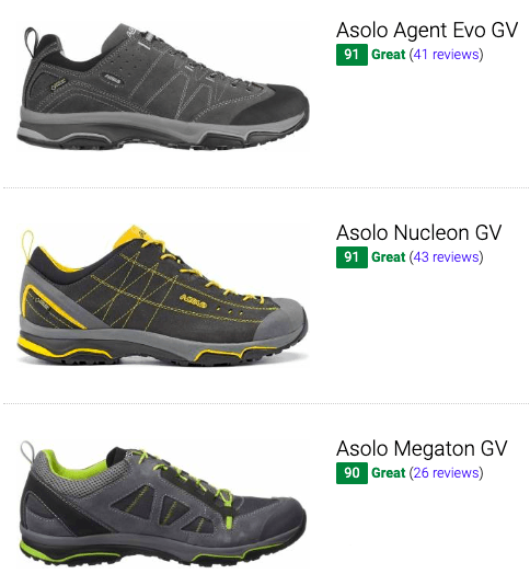 best asolo hiking shoes
