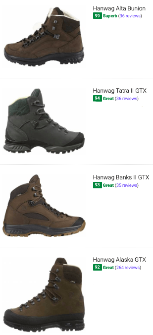 best hanwag hiking boots