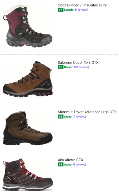 best high cut hiking boots