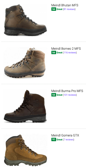 best meindl hiking boots