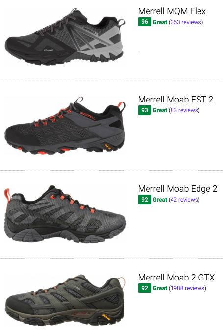 best merrell lightweight hiking shoes