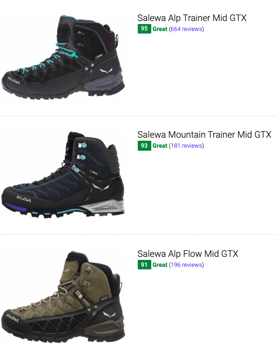 best salewa hiking boots