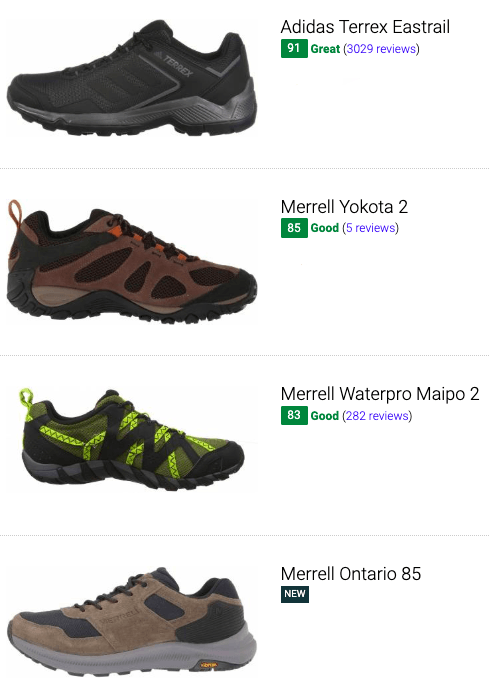 best summer hiking shoes