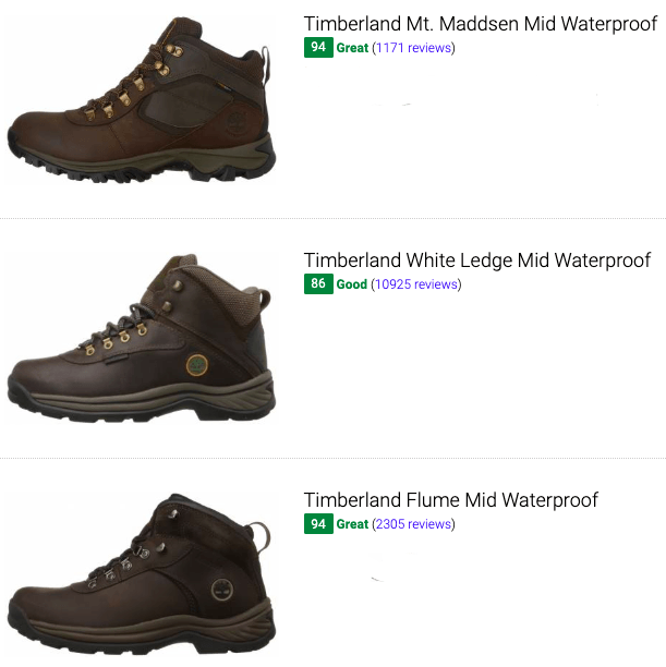best timberland waterproof hiking boots