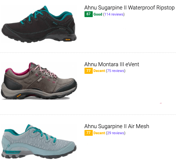 best ahnu hiking shoes