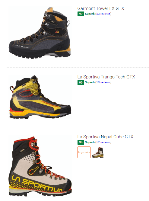 Best high cut mountaineering boots