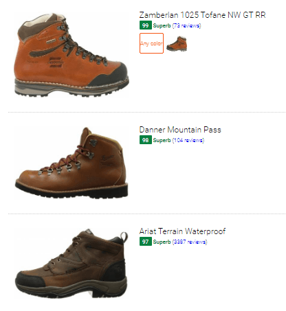Best leather waterproof hiking boots