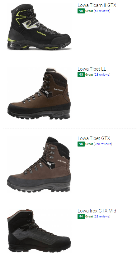 Best Lowa hiking boots
