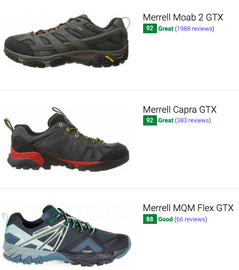 best merrell goretex hiking shoes