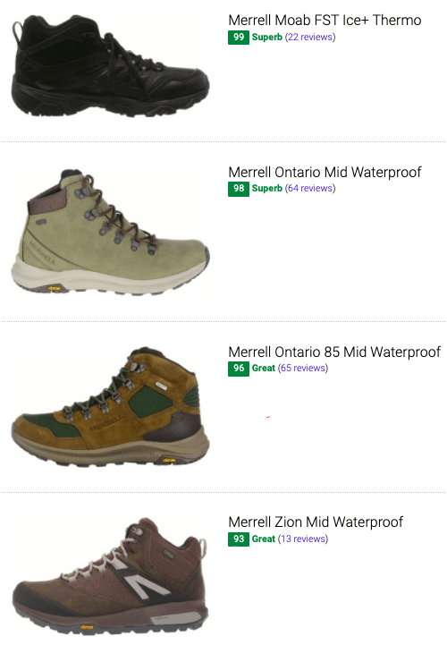 Best Merrell leather hiking boots