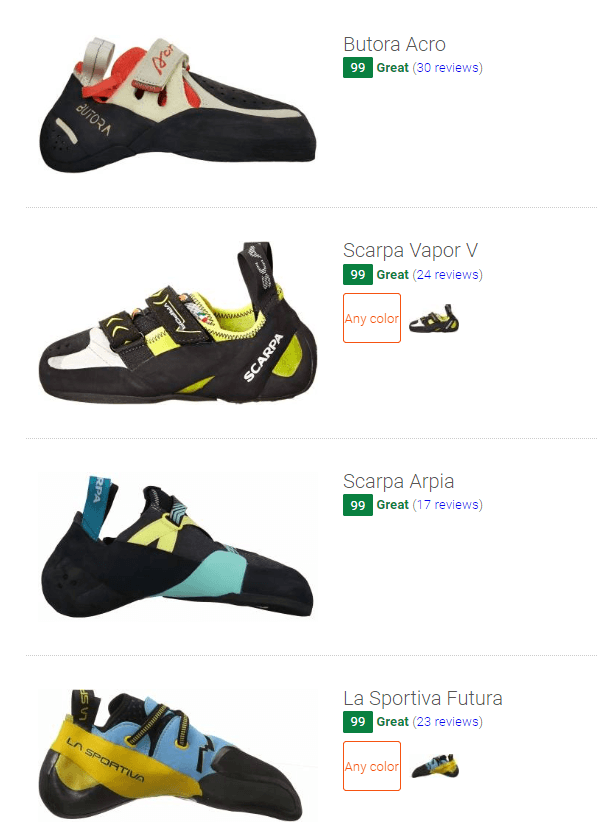 Best synthetic climbing shoes