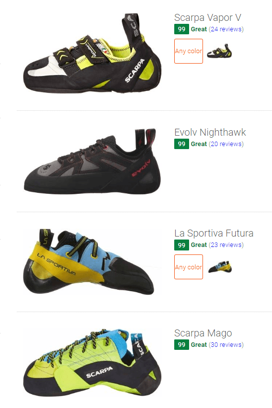 Best unlined climbing shoes