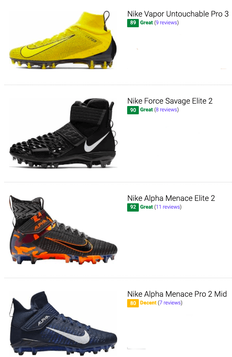 the best nike football cleats