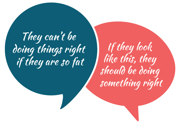 you can't be doing things right and be fat