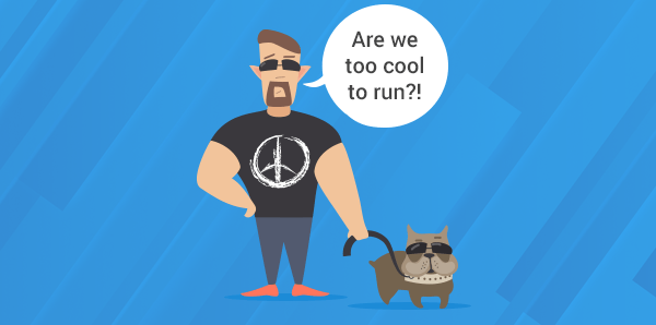 Are we too cool to run? Dog image