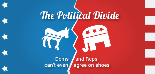 The Political Divide: Dems and Reps Can't Even Agree on Shoes