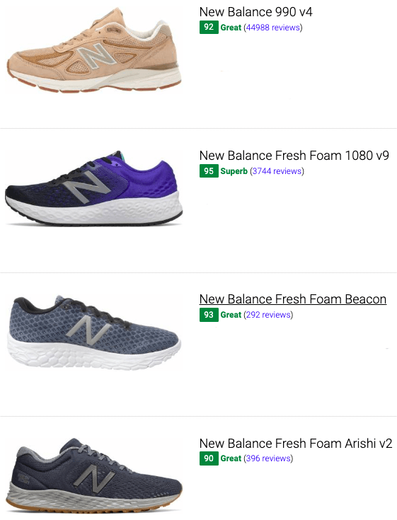 best new balance running shoes