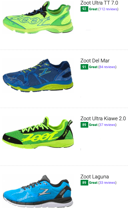 best zoot running shoes