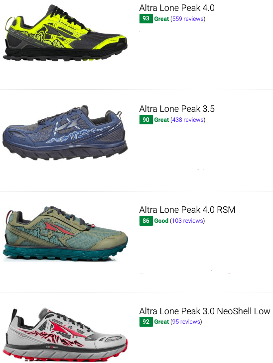 best altra trail running shoes