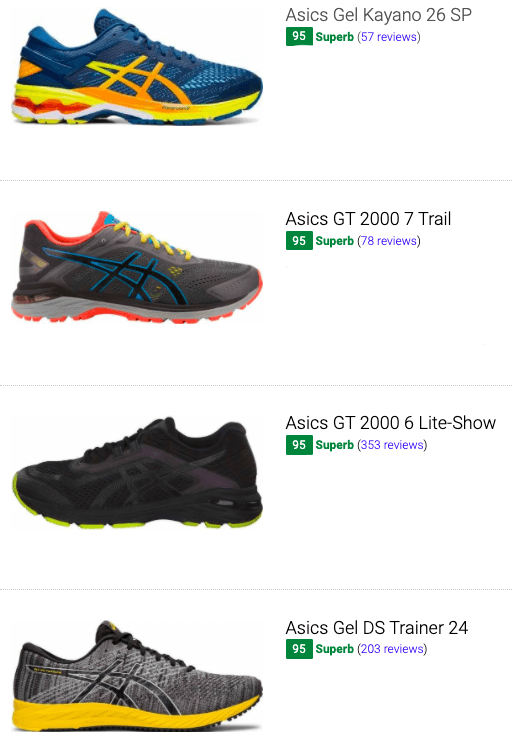 overpronation shoes asics