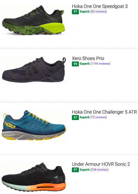 best high arch running shoes