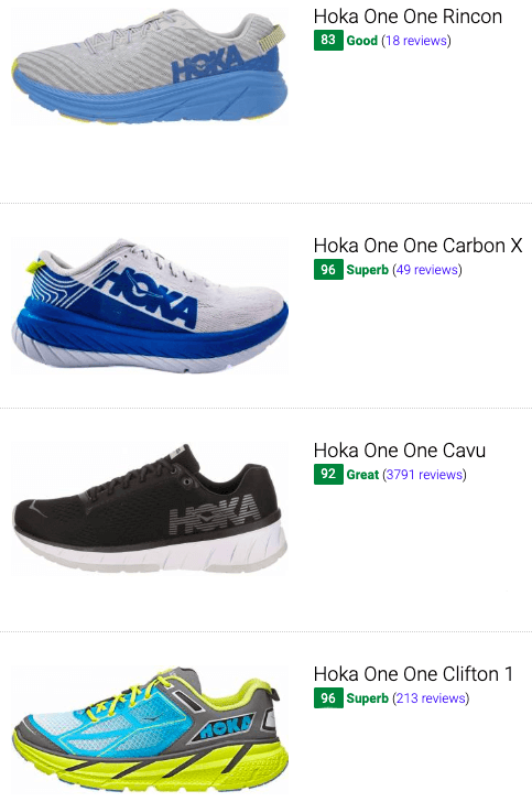 best hoka one one competition running shoes