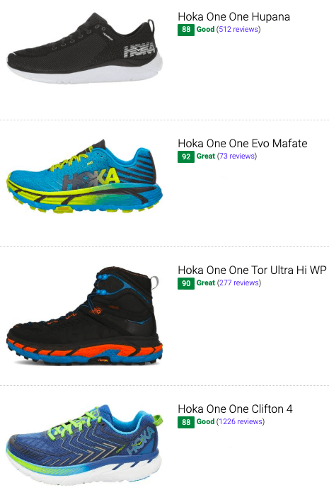 best hoka one one low drop running shoes