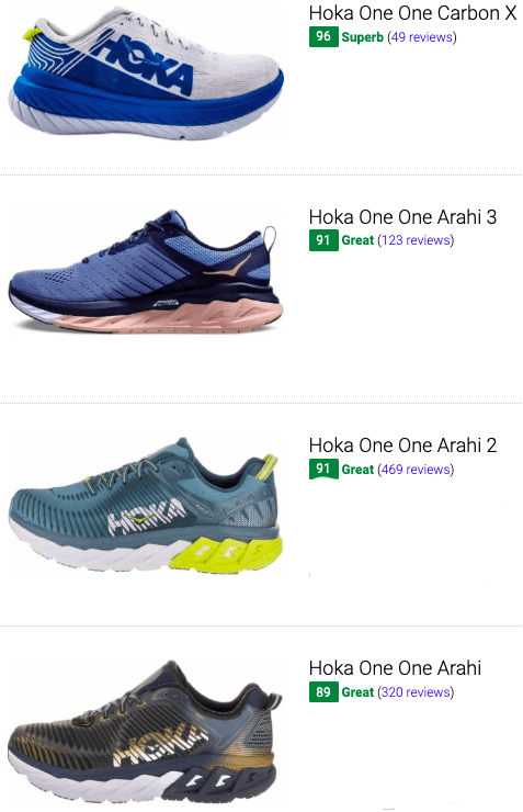 hoka one one stability running shoes