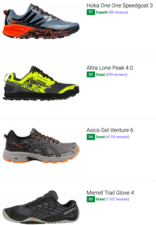 best neutral trail running shoes