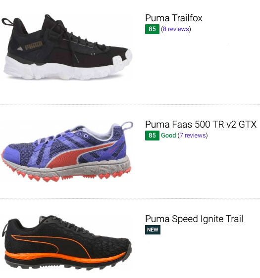 best puma trail running shoes
