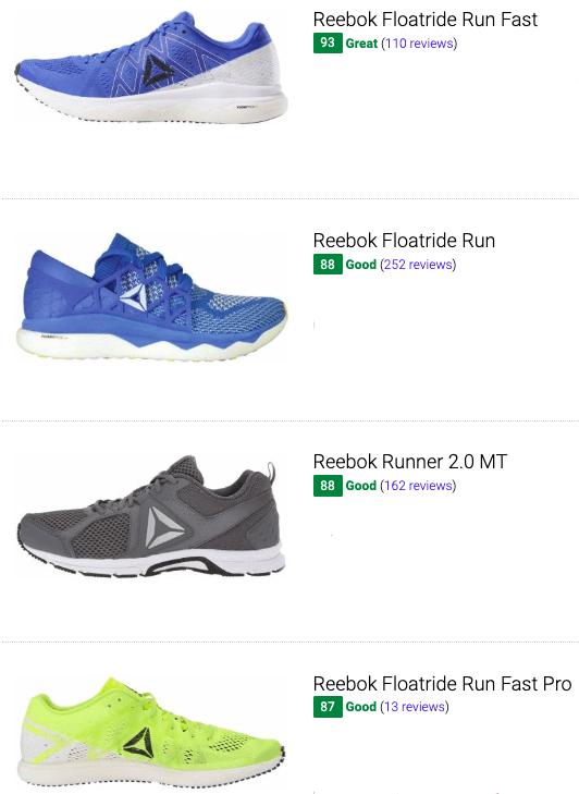 best reebok competition running shoes