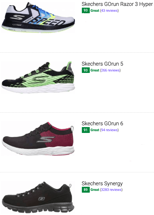 best skechers low drop running shoes