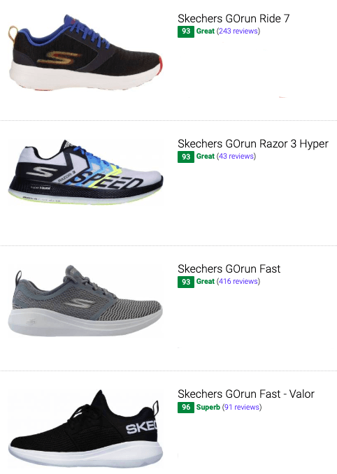 Save 45% On Skechers Neutral Running Shoes (47 Models In